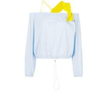 Schulterfreie Bluse mit Rüschenträgern
