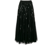 P.A.R.O.S.H. sequin embroidered midi skirt