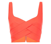 Cropped-Top mit Flechtmuster