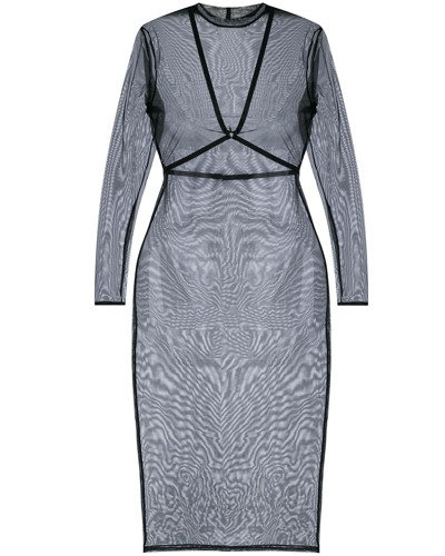 harness sheer dress