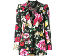 Blazer mit Blumen-Print