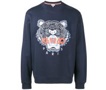 Sweatshirt mit aufgesticktem Tiger