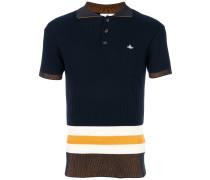 Geripptes Poloshirt in Colour-Block-Optik