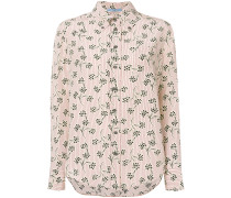 Button-down-Seidenhemd mit Print