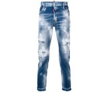 Jeans mit Bleached-Effekt