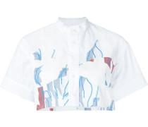 Cropped-Hemd mit Print