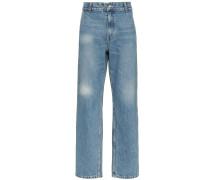 Weite Jeans mit ausgeblichenem Effekt