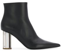Stiefel mit Metallic-Absatz