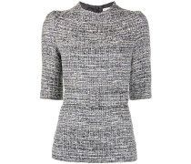 Bluse mit Tweed-Effekt