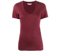 Jersey-T-Shirt mit V-Ausschnitt