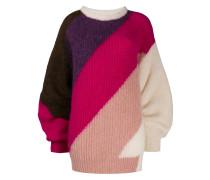 Pullover mit diagonalen Streifen