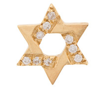 18kt gold Diamond Star of David Charm necklace