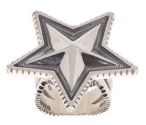 'Star' Silberring mit Gravur
