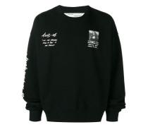 Sweatshirt mit Mona-Lisa-Print