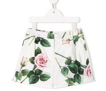 Shorts mit Rosen-Print