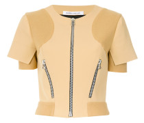 Motocross panelled blouse