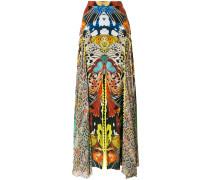 butterfly print long skirt