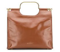 Handtasche mit goldfarbenen Beschlägen