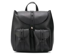Rucksack mit aufgesetzten Taschen