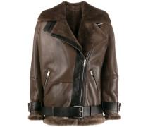 zipped oversized jacket