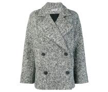 Tweed-Mantel mit Knöpfen