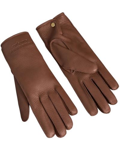 Handschuhe aus Kaschmir und Leder