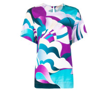 abstract print blouse