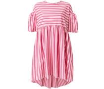 Gestreiftes Kleid mit Puffärmeln