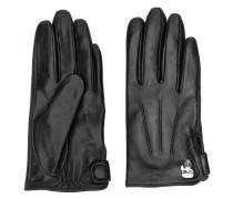 pin-embellished gloves