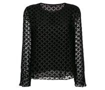 transparent geometric blouse