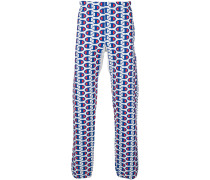 all-over logo print track pants