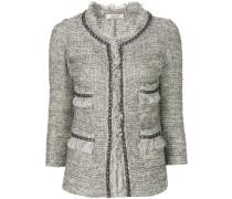 frayed edges tweed jacket