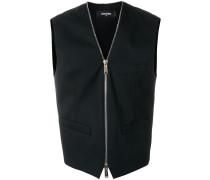 zip front waistcoat