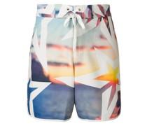 Super Mojo print swim shorts