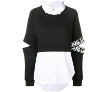 Sweatshirt aus verschiedenen Stoffen