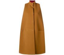 oversized sleeveless coat