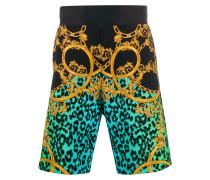Shorts mit barockem Print
