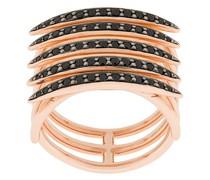 'Quill' Ring mit schwarzen Spinellen
