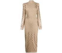 Schmales Kleid in Netzoptik