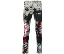 Jeans im Patchwork-Design