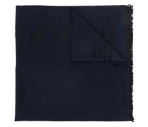 logo print scarf