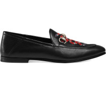 Loafer mit Schlange-Stickerei