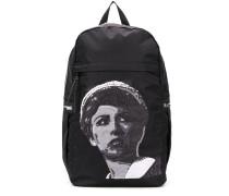 zip-around patchwork backpack