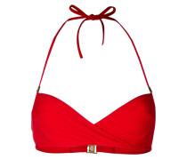 Aquamarine underwired bandeau bikini bra