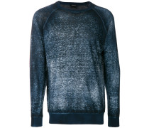 Pullover in Washed-Optik