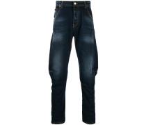 Lockere Distressed-Jeans