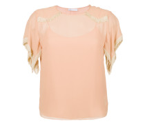 fringe silk blouse