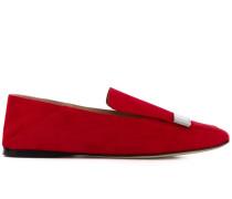 plaque-embellished loafers
