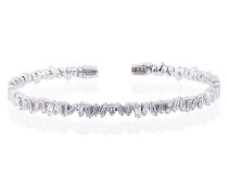 18K white gold and diamond Fireworks Classic baguette bangle