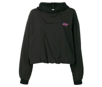 washed nylon hoodie